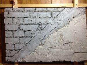 モルタル造形 レンガ プラスター木目 サンプル