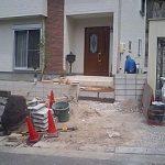 門塀ビフォーアフター スタンプコンクリート(スタンプコンクリート)