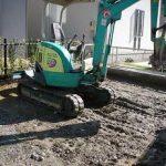 四日市でカーポート 三協立山フォーグを施工、基礎掘り方