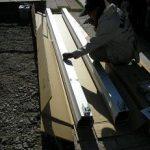 三協立山 カーポート フォーグ組み立て 四日市 柱を組み立てる事から