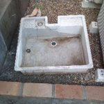 名古屋 庭 スタンプコンクリート ディズニーランド化計画パート2 立水栓