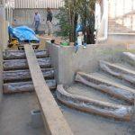 名古屋 階段 アプローチ スタンプコンクリート ディズニーランド化計画パート4 ランダムストーン