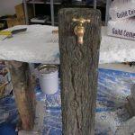 モルタル造形で創った立水栓、設置完了