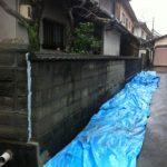 名古屋市西区で古くなったブロック解体工事