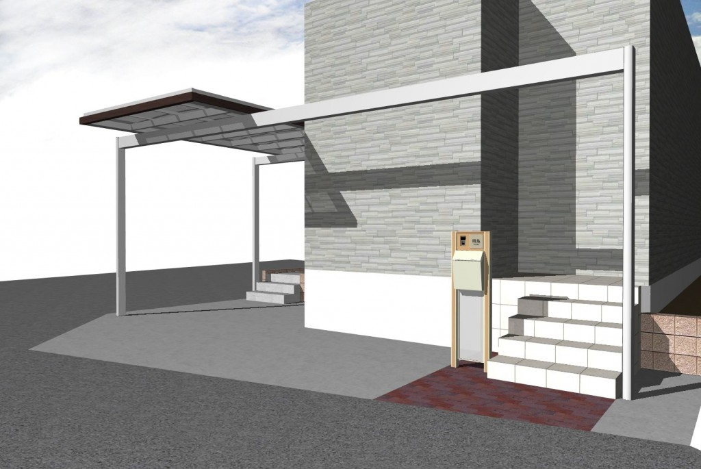 名古屋市 瑞穂区 庭 木フェンス 駐車場工事