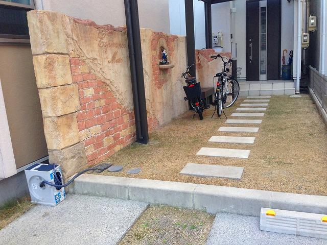 名古屋市 北区 モルタル造形の現場をFacebookのカバー写真にしました