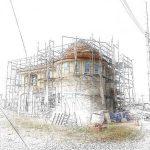 知多市で輸入住宅の外壁をモルタル造形で石積み