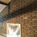 #名古屋 の #ビルトインガレージ の工務店さんの展示場を #モルタル造形 で #レンガ造形