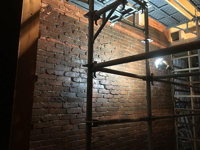 ビルトインガレージ工務店様 モルタル造形 レンガ造形完成いたしました